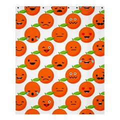Seamless Background Orange Emotions Illustration Face Smile  Mask Fruits Shower Curtain 60  X 72  (medium)  by Mariart