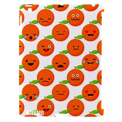 Seamless Background Orange Emotions Illustration Face Smile  Mask Fruits Apple Ipad 3/4 Hardshell Case (compatible With Smart Cover) by Mariart