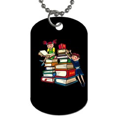 Back To School Dog Tag (two Sides) by Valentinaart