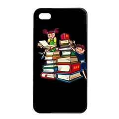 Back To School Apple Iphone 4/4s Seamless Case (black) by Valentinaart