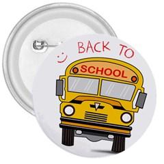 Back To School   School Bus 3  Buttons by Valentinaart