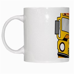 Back To School   School Bus White Mugs by Valentinaart