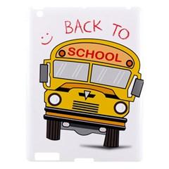 Back To School   School Bus Apple Ipad 3/4 Hardshell Case by Valentinaart