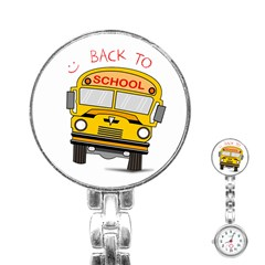 Back To School   School Bus Stainless Steel Nurses Watch by Valentinaart