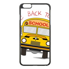 Back To School   School Bus Apple Iphone 6 Plus/6s Plus Black Enamel Case by Valentinaart