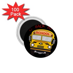 Back To School   School Bus 1 75  Magnets (100 Pack)  by Valentinaart