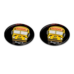Back To School   School Bus Cufflinks (oval) by Valentinaart
