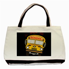 Back To School   School Bus Basic Tote Bag by Valentinaart