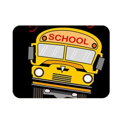 Back To School   School Bus Double Sided Flano Blanket (mini)  by Valentinaart