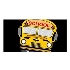 Back To School   School Bus Satin Shawl by Valentinaart