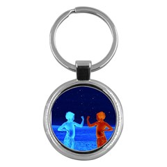 Space Boys  Key Chains (round)  by Valentinaart