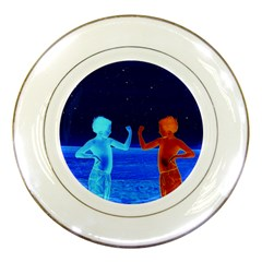 Space Boys  Porcelain Plates by Valentinaart