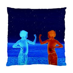 Space Boys  Standard Cushion Case (one Side) by Valentinaart