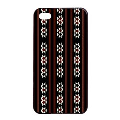Folklore Pattern Apple Iphone 4/4s Seamless Case (black) by Valentinaart