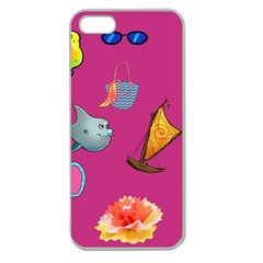 Aloha   Summer Fun 1 Apple Seamless Iphone 5 Case (clear) by MoreColorsinLife