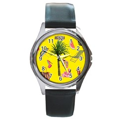 Aloha   Summer Fun 2 Round Metal Watch by MoreColorsinLife
