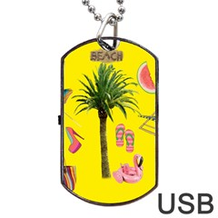 Aloha   Summer Fun 2 Dog Tag Usb Flash (two Sides) by MoreColorsinLife