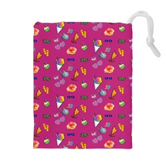 Aloha   Summer Fun 1b Drawstring Pouches (extra Large) by MoreColorsinLife
