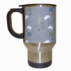 Shave Our Rhinos Animals Monster Travel Mugs (white) by Mariart