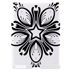 Star Sunflower Flower Floral Black Apple Ipad 3/4 Hardshell Case (compatible With Smart Cover) by Mariart