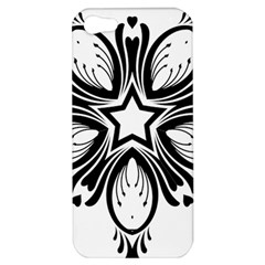 Star Sunflower Flower Floral Black Apple Iphone 5 Hardshell Case by Mariart