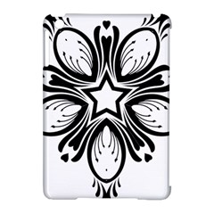 Star Sunflower Flower Floral Black Apple Ipad Mini Hardshell Case (compatible With Smart Cover) by Mariart