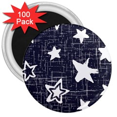 Star Space Line Blue Art Cute Kids 3  Magnets (100 Pack) by Mariart