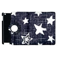 Star Space Line Blue Art Cute Kids Apple Ipad 3/4 Flip 360 Case by Mariart
