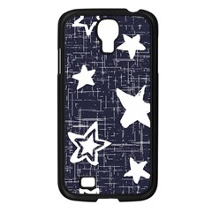 Star Space Line Blue Art Cute Kids Samsung Galaxy S4 I9500/ I9505 Case (black) by Mariart