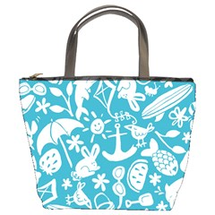 Summer Icons Toss Pattern Bucket Bags by Mariart