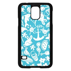 Summer Icons Toss Pattern Samsung Galaxy S5 Case (black) by Mariart