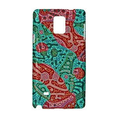 Recursive Coupled Turing Pattern Red Blue Samsung Galaxy Note 4 Hardshell Case by Mariart