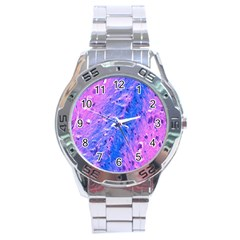 The Luxol Fast Blue Myelin Stain Stainless Steel Analogue Watch by Mariart