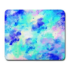 Transparent Colorful Rainbow Blue Paint Sky Large Mousepads by Mariart
