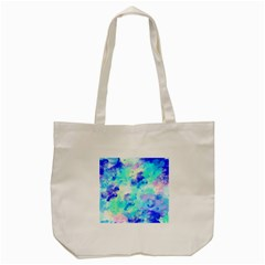 Transparent Colorful Rainbow Blue Paint Sky Tote Bag (cream) by Mariart