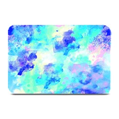 Transparent Colorful Rainbow Blue Paint Sky Plate Mats by Mariart