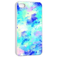 Transparent Colorful Rainbow Blue Paint Sky Apple Iphone 4/4s Seamless Case (white) by Mariart