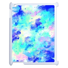 Transparent Colorful Rainbow Blue Paint Sky Apple Ipad 2 Case (white) by Mariart