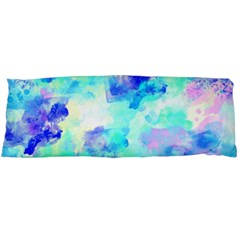 Transparent Colorful Rainbow Blue Paint Sky Body Pillow Case Dakimakura (two Sides) by Mariart