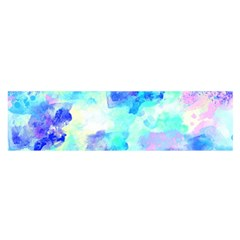 Transparent Colorful Rainbow Blue Paint Sky Satin Scarf (oblong) by Mariart