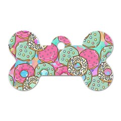 Donuts Pattern Dog Tag Bone (one Side) by ValentinaDesign