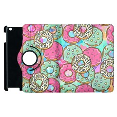 Donuts Pattern Apple Ipad 3/4 Flip 360 Case by ValentinaDesign