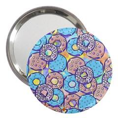 Donuts Pattern 3  Handbag Mirrors by ValentinaDesign