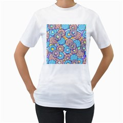 Donuts Pattern Women s T Shirt (white)  by ValentinaDesign