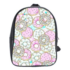 Donuts Pattern School Bag (large) by ValentinaDesign