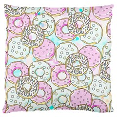 Donuts Pattern Large Cushion Case (two Sides) by ValentinaDesign