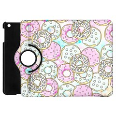 Donuts Pattern Apple Ipad Mini Flip 360 Case by ValentinaDesign