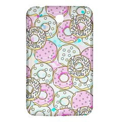 Donuts Pattern Samsung Galaxy Tab 3 (7 ) P3200 Hardshell Case  by ValentinaDesign