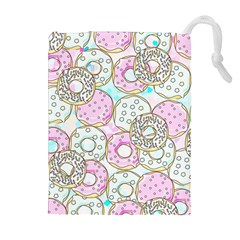 Donuts Pattern Drawstring Pouches (extra Large) by ValentinaDesign