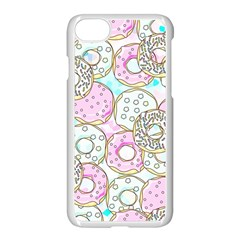 Donuts Pattern Apple Iphone 7 Seamless Case (white) by ValentinaDesign